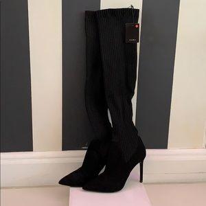 NWT Zara OTK sock boots
